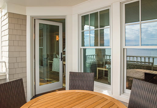 400 Series hinged patio door