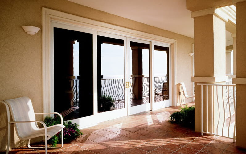 ... 400 Series Frenchwood Gliding Patio Doors, White ...