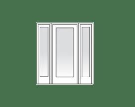 Heritage sliding glass door transom sidelight