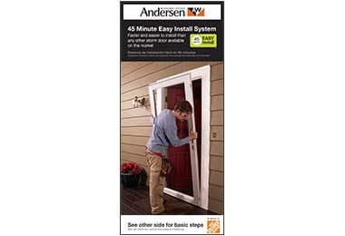 45 minute storm door installation