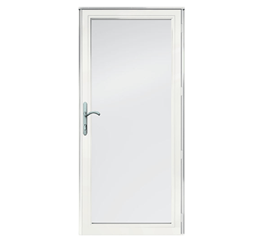 Full Light Seasonal Venting Storm Door. 4000 Series. Andersen Windows Logo