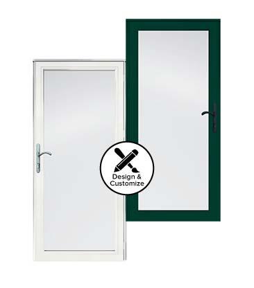 Full View Glass Security Storm Doors Andersen Emco 4000