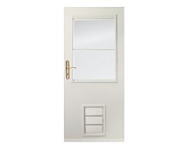Design your own pet entry storm door