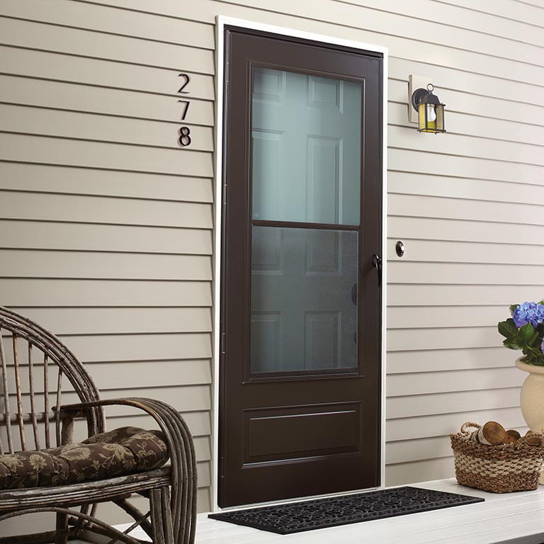 Easy Self Storing Storm Door Andersen Emco 100 Plus Series
