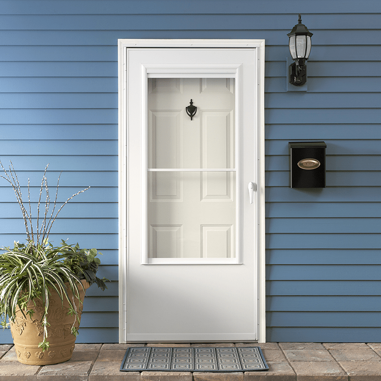 200 series self storing storm door
