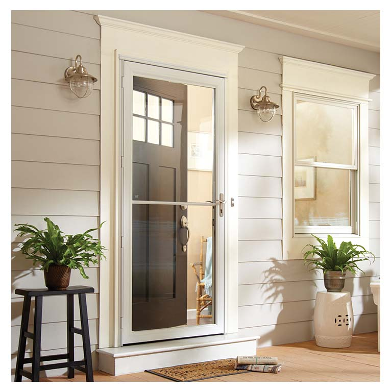 2500 series self storing storm door