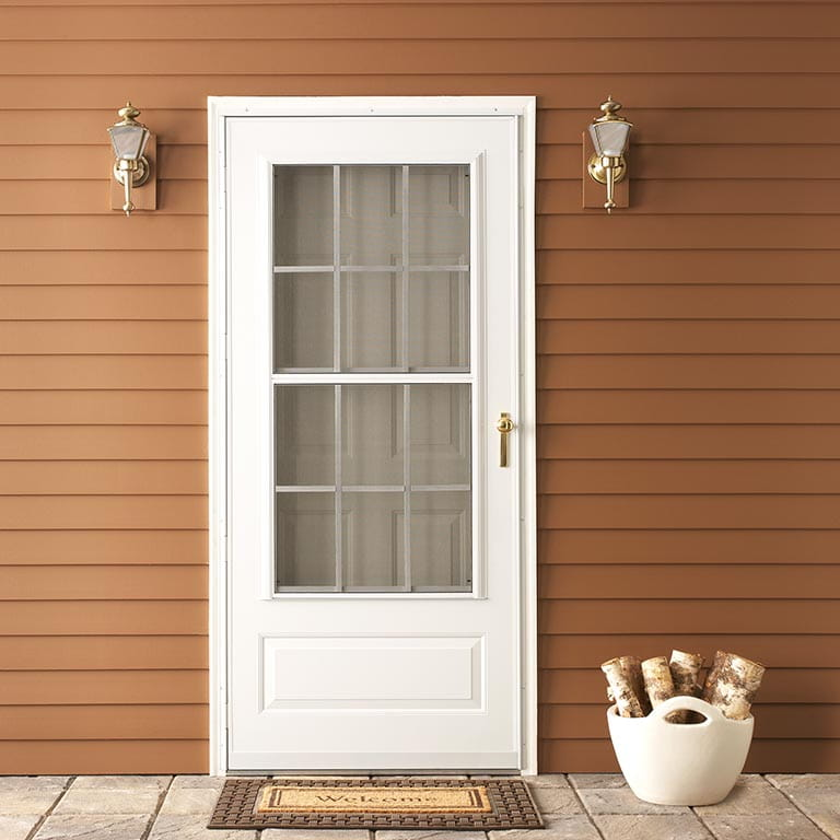 Colonial Triple Track Storm Door Andersen Emco 300 Series