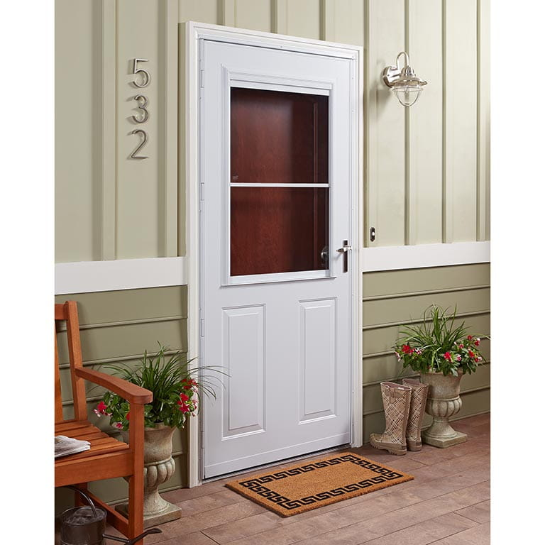 300 series traditional self storing storm door