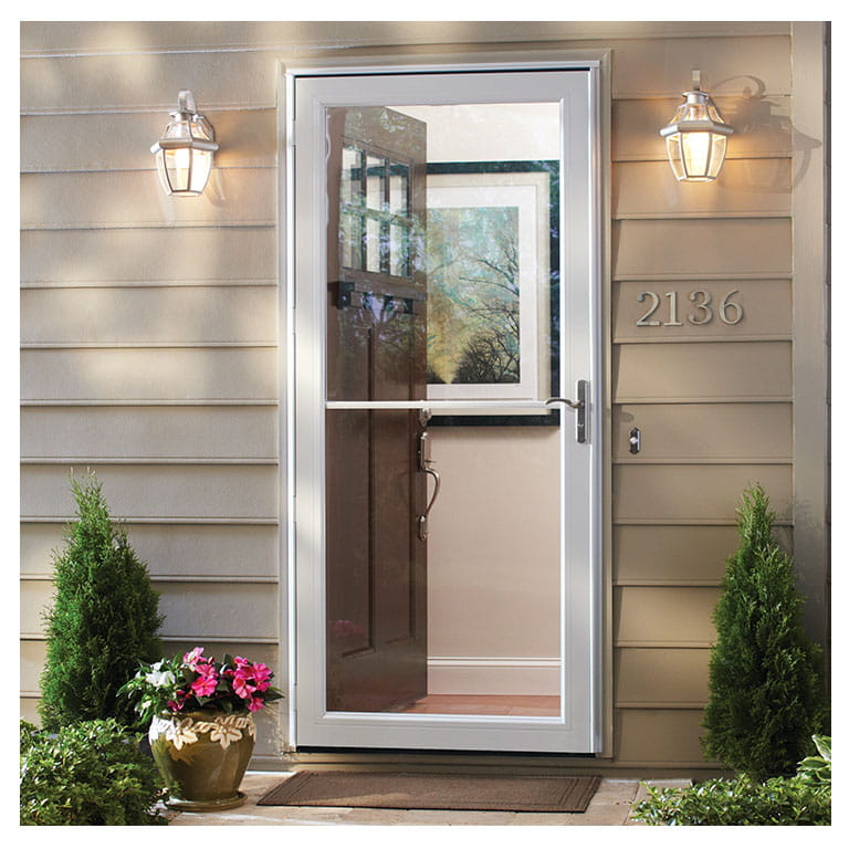 Storm door with retractable screen andersen emco 3000 series for Retractable screen door replacement