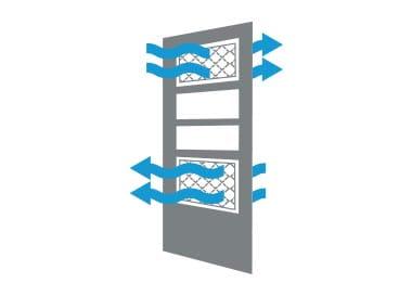 dual-venting storm door