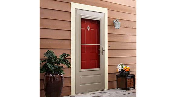 partial light storm door