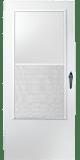 100 series self storing storm door