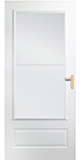 300 series self storing storm door