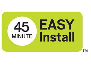 45 min install storm door