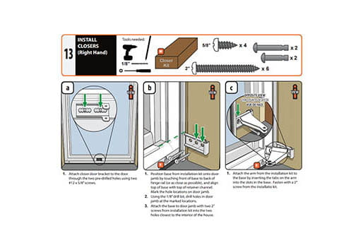 storm doors installation guides