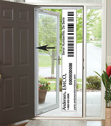 Help Andersen Luminaire Retractable Screen Door