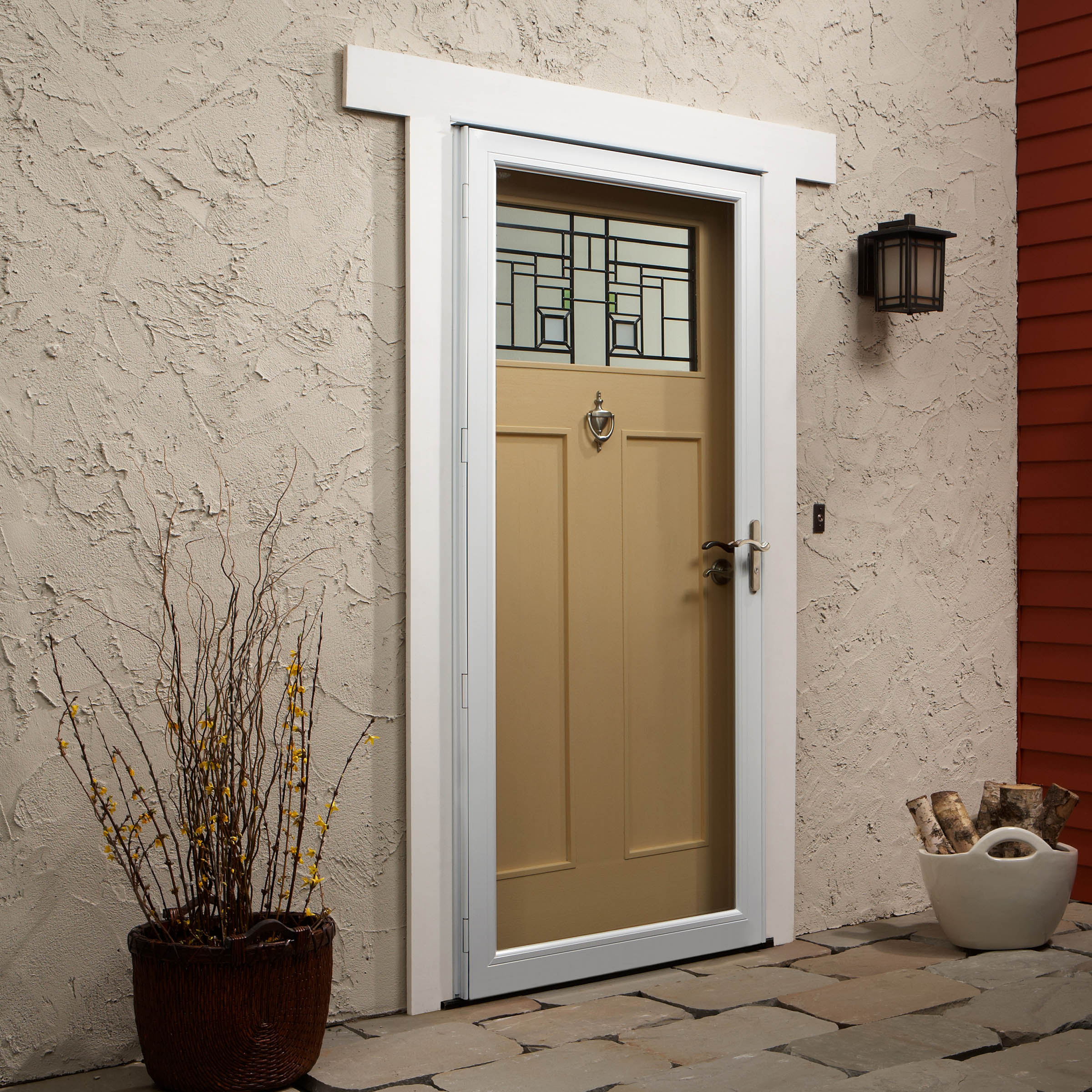 Charmant Storm Door With Retractable Screen. 4000 Series Fullview Laminated Safety  Glass