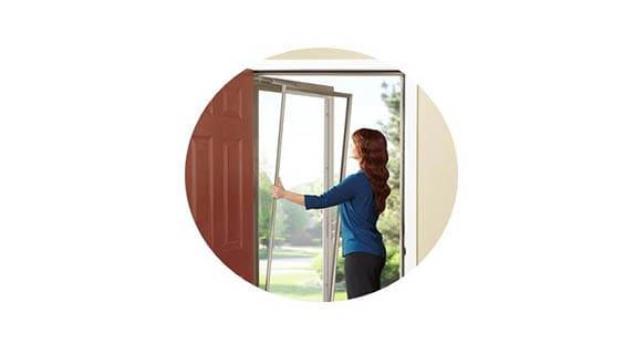 seasonal ventilation storm door